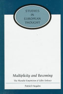Multiplicity and Becoming: The Pluralist Empiricism of ...