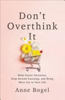 Don't Overthink It Pdf/ePub eBook