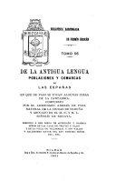 De la antigua lengua, poblaciones y comarcas de las Espanas, en que de paso se tocan algunas cosas de la Cantabria