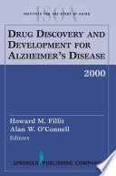 Drug Discovery and Development for Alzheimer s Disease  2000 Book