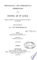 Theological And Homiletical Commentary On The Gospel Of St Luke