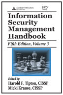 Information Security Management Handbook, Fifth Edition
