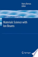 Materials Science with Ion Beams