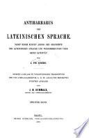Antibarbarus der lateinischen sprache