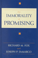 The Immorality of Promising Book