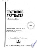 Pesticides Abstracts Book