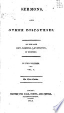 Sermons, and Other Discourses