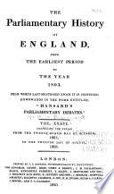 Cobbett's Parliamentary History of England Pdf/ePub eBook