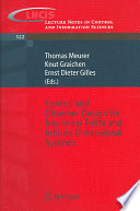 Control and Observer Design for Nonlinear Finite and Infinite Dimensional Systems