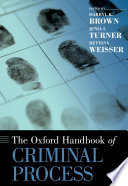 The Oxford Handbook of Criminal Process