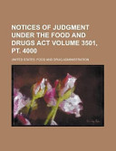 Notices Of Judgment Under The Food And Drugs Act Volume 3501