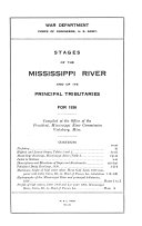 Stages of the Mississippi River and of Its Principal Tributaries  for