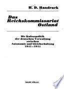 Das Reichskommissariat Ostland