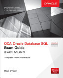 Pdf OCA Oracle Database SQL Exam Guide (Exam 1Z0-071) Telecharger