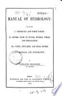 Manual of Hydrology