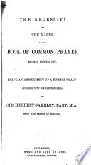 The Order for Compline  Or Prayers Before Bed time Book