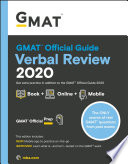 Cover of GMAT Official Guide 2020 Verbal Review