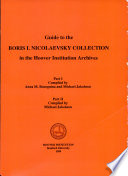 Guide to the Boris I. Nicolaevsky Collection in the Hoover Institution Archives