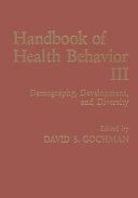 Handbook of Health Behavior Research III