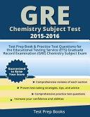 GRE Chemistry Subject Test 2015-2016