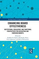Enhancing Board Effectiveness Pdf/ePub eBook
