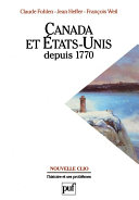 Canada et États-Unis depuis 1770 Pdf/ePub eBook