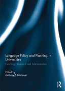 Language Policy and Planning in Universities