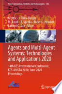 Agents and Multi Agent Systems  Technologies and Applications 2020 Book