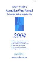 Jeremy Oliver s Australian Wine Annual