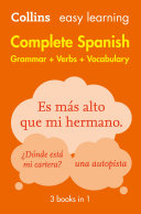 Easy Learning Spanish Complete Grammar  Verbs and Vocabulary  3 books in 1   Trusted support for learning  Collins Easy Learning