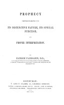 Prophecy Viewed in Respect to Its Distinctive Nature