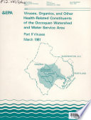 Viruses  organics  and other health related constituents of the Occoquan watershed and water service area  Viruses