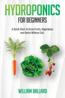Hydroponics for Beginners Book