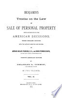 Benjamin S Treatise On The Law Of Sale Of Personal Property