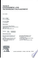 Journal of ENGINEERING AND TECHNOLOGY MANAGEMENT
