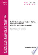Salt Deterioration of Historic Mortars in Tropical Climate  Analysis and Characterisation