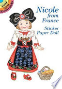 Nicole from France Sticker Paper Doll