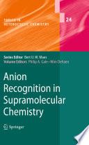 Anion Recognition In Supramolecular Chemistry Book PDF