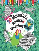 3D Mandala Animals Coloring Book