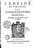 L'Eneide, del commandator Annibal Caro