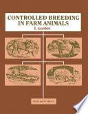 Controlled Breeding in Farm Animals Book
