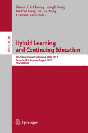 Pdf Hybrid Learning and Continuing Education Telecharger