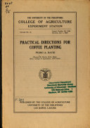 Practical Directions for Coffee Planting