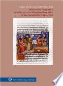 Historische Pragmatik und historische Varietätenlinguistik in den romanischen Sprachen