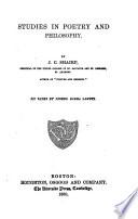 Studies in Poetry and Philosophy