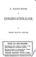 A Hand-book of Congregationalism