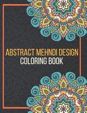 Abstract Mehndi Design Coloring Book