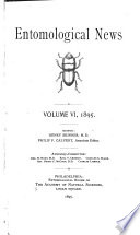 Entomological News And Proceedings Of The Entomological Section Of The Academy Of Natural Sciences Of Philadelphia