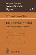 The Recursion Method [Pdf/ePub] eBook