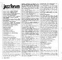 Jazz Forum Book PDF